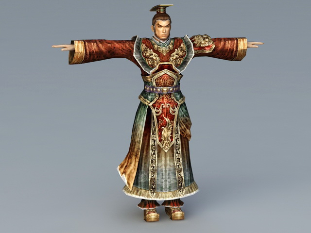 Chinese Emperor 3d rendering