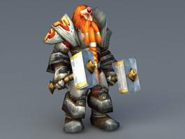 Magni Bronzebeard 3d preview