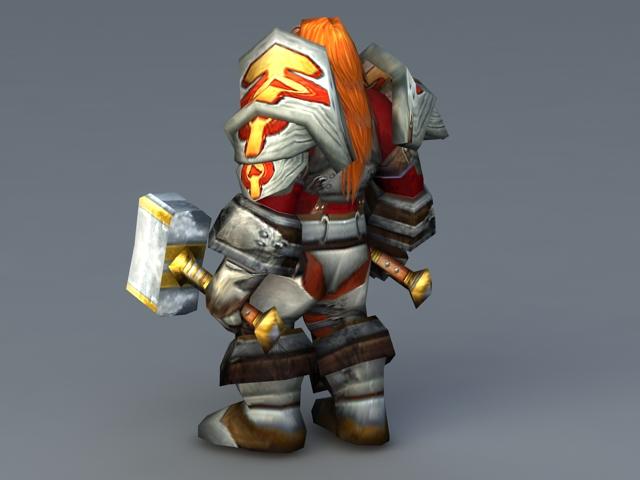 Magni Bronzebeard 3d rendering