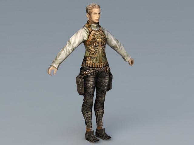 Balthier Character 3d rendering