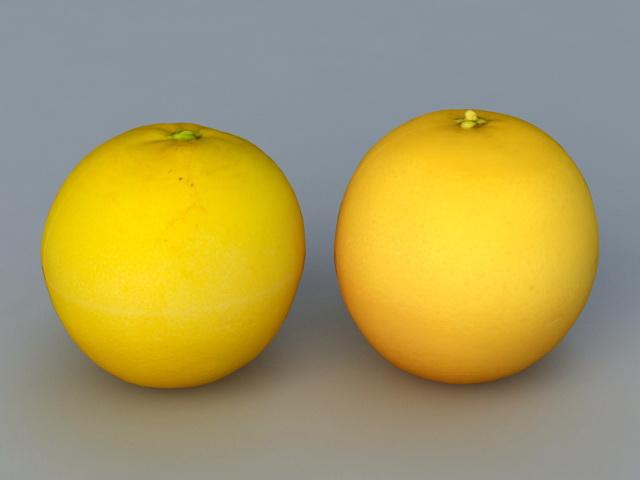 Orange Fruit 3d rendering