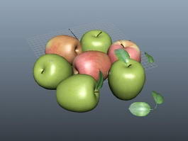 Red and Green Apples 3d preview
