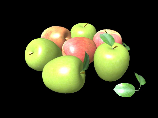 Red and Green Apples 3d rendering