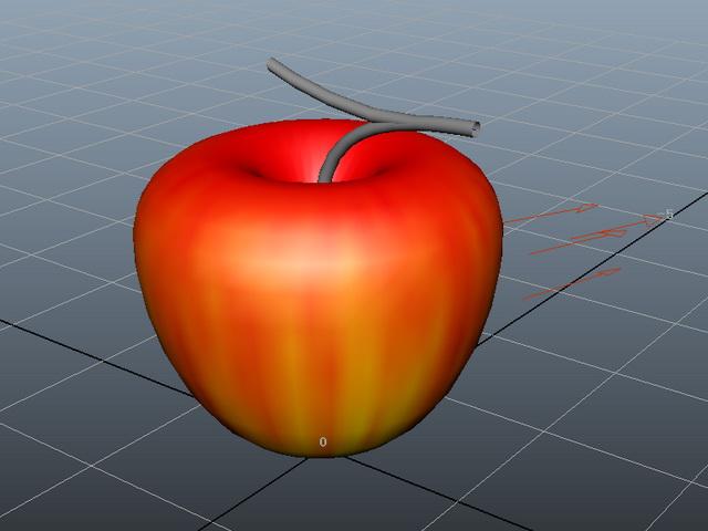 Red Apple 3d rendering