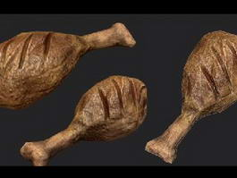Oven Baked Chicken Legs 3d preview