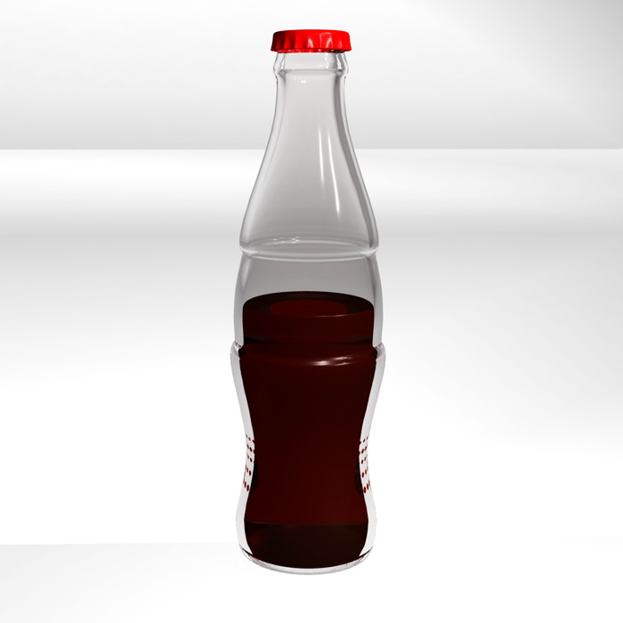 Coca-Cola Bottle 3d rendering