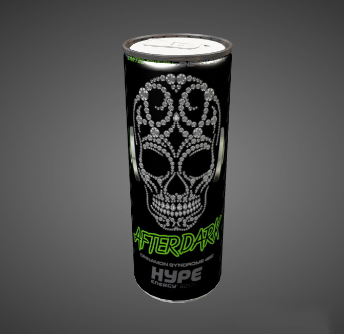 Hype Energy Drink 3d rendering