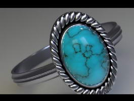 Blue Gemstone Ring 3d preview