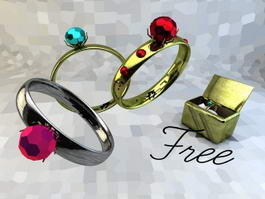Antique Gem Rings 3d preview