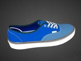 Blue Vans Skate Shoe 3d preview