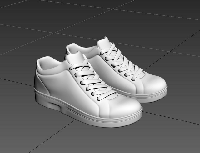 High Top Shoes 3d rendering
