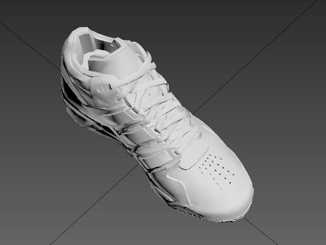 White Sneakers 3d rendering