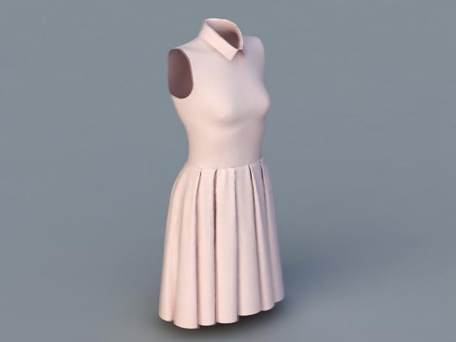 Sleeveless Dress 3d rendering
