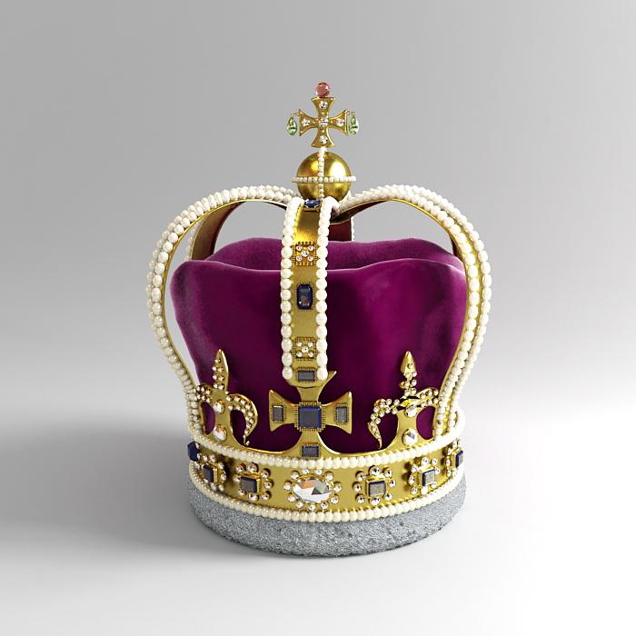Saint Edwards Crown 3d rendering