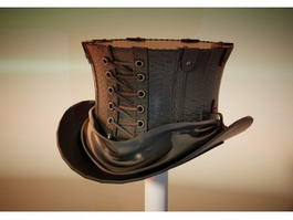 Steampunk Top Hat 3d preview