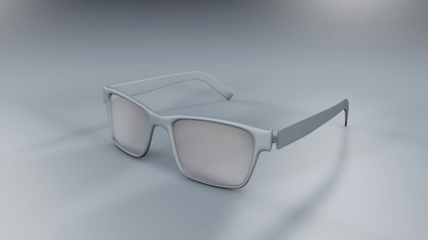 Black Geek Glasses 3d rendering