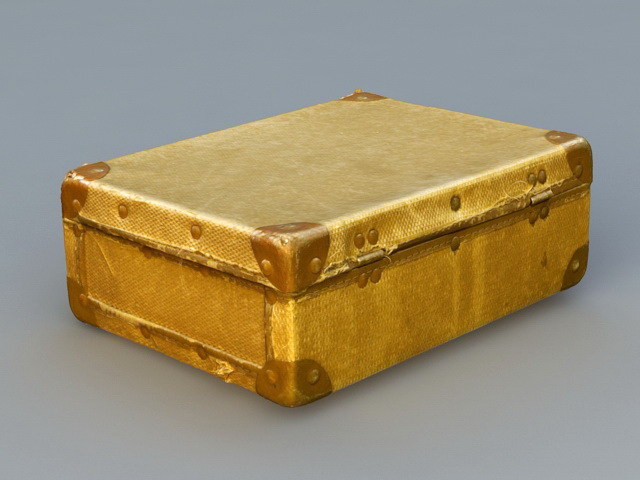 Antique Suitcase 3d rendering