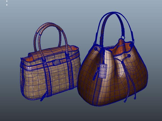 Fashion Handbags 3d rendering