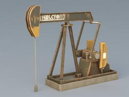 Oilfield Pumping Unit 3d preview