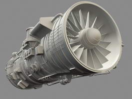 Saturn Thrust Vectoring Engine 3d preview