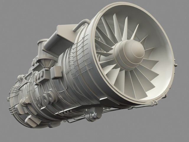 Saturn Thrust Vectoring Engine 3d rendering