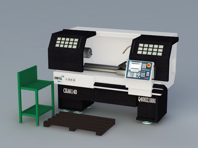 CNC Machine 3d rendering
