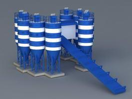 Concrete Mixing Plant 3d model preview