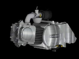 Honda Motorcycle Engine 3d preview