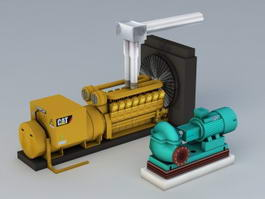 Generator and Pump 3d preview