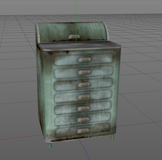 Medical Surgical Cabinet 3d rendering