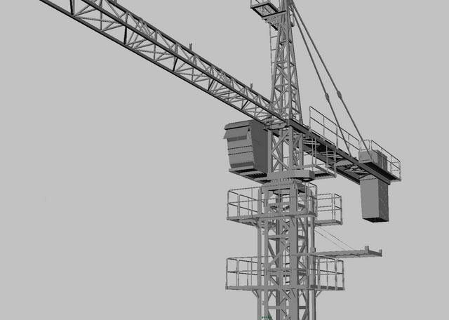 Tower Crane 3d rendering