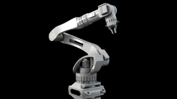 Mechanical Robotic Arm 3d rendering