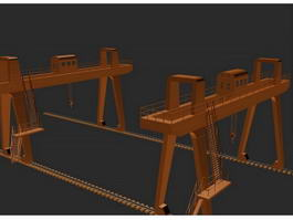 gantry crane 3d preview