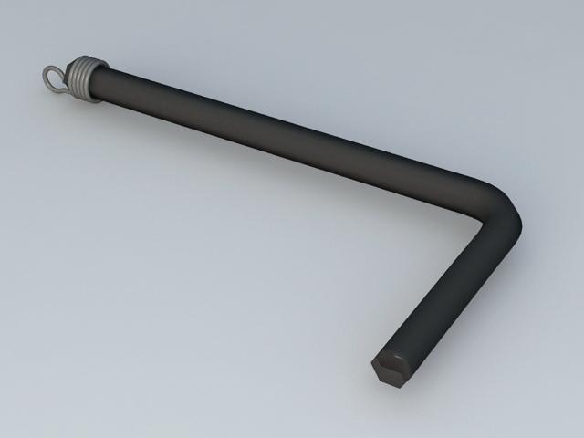 Allen Wrench 3d rendering
