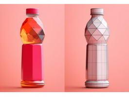 Plastic Beverage Bottle 3d preview