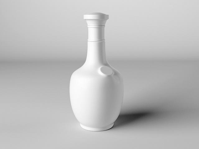 Liquor Bottles 3d rendering