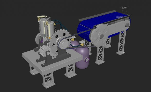 Engineering Animation 3d rendering