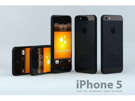 Apple iPhone 5 Black 3d preview
