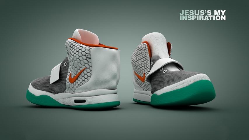 High Top Sneakers 3d rendering