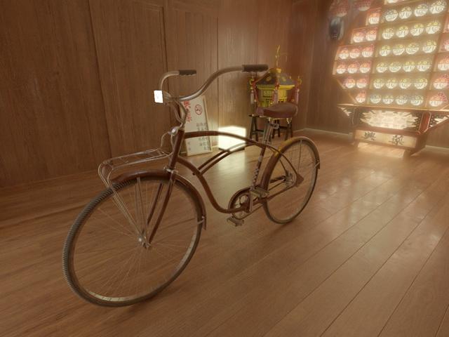 Retro Bike 3d rendering