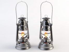 Antique Dietz Oil Lamps 3d preview