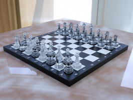 Crystal Chess Set 3d model preview