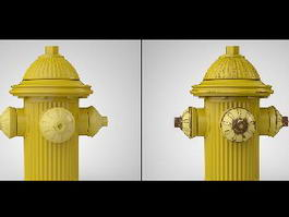 Yellow Fire Hydrant 3d preview