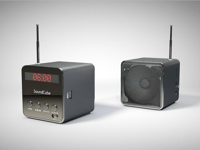 Bluetooth Sound Cubes 3d rendering
