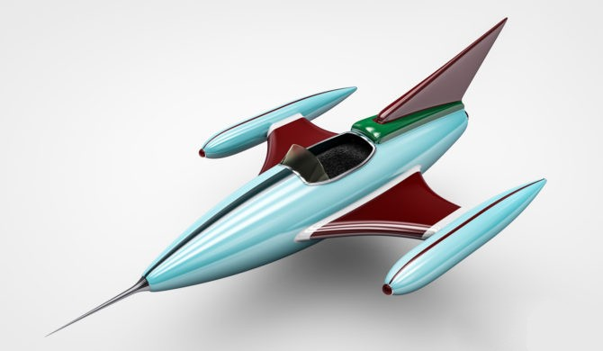Toy Fighter Jet 3d rendering