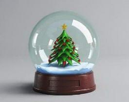 Christmas Snow Globe 3d model preview