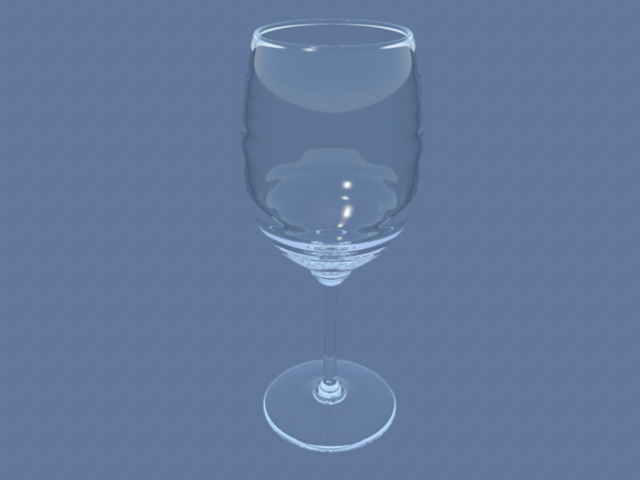 Wine Glass 3d rendering