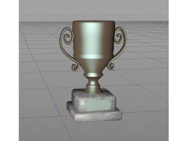 Award Cup Trophy 3d preview