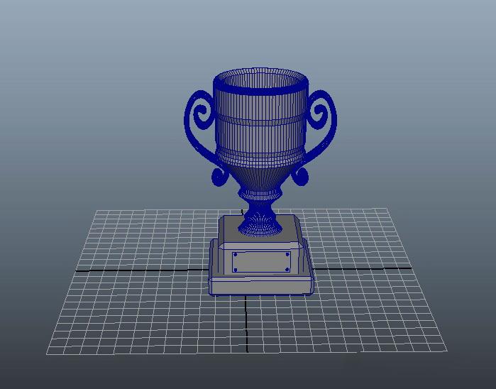 Award Cup Trophy 3d rendering