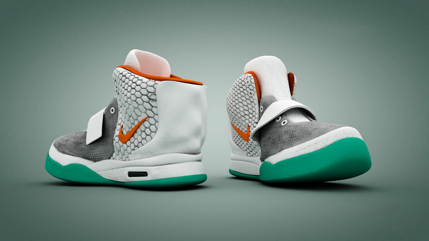 Nike Basket Blazer 3d rendering